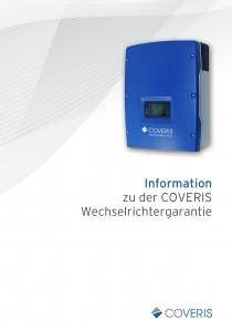 Information zu der COVERIS-Wechselrichtergarantie