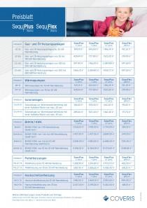 Preisblatt SequPlus und SequFlex Wärme